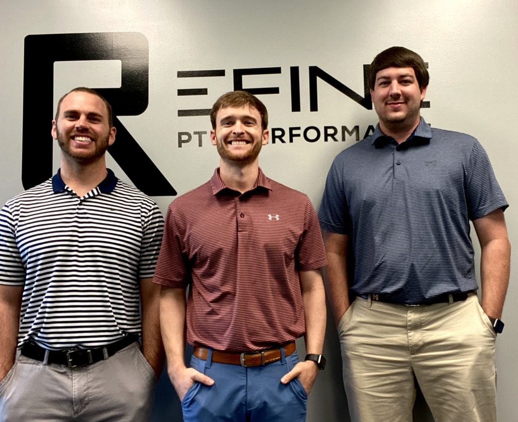 Kyle, Tyler, and Blake, Are all Doctors of Physical Therapy at Refine PT and Performance
